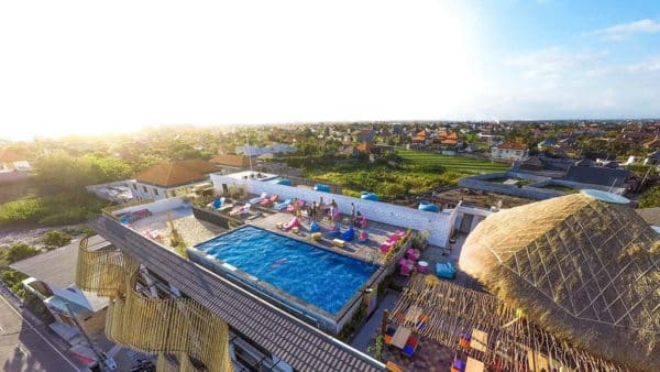 Koa D` Surfer Hotel - Rooftop Pool - Fitness Holidays in Bali - Fitness Holidays for Travelling Athletes