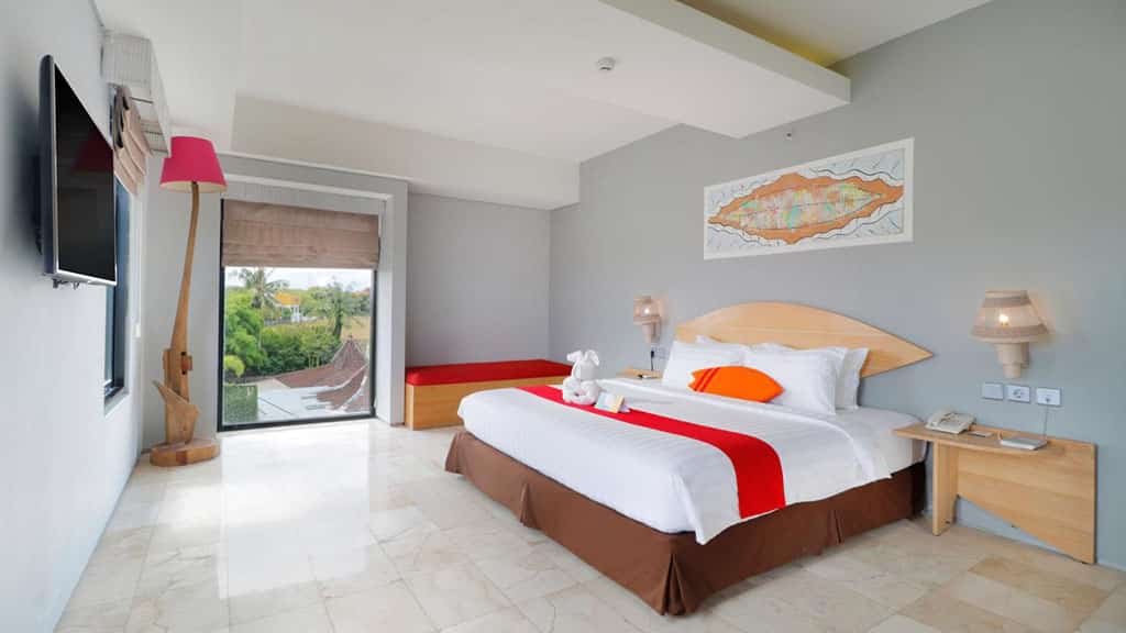 Koa D` Surfer Hotel Z- Room with View - Fitness Holidays in Bali - Fitness Holidays for Travelling Athletes