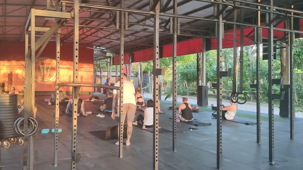 Sunrise Yoga - Titan Fitness Camp Phuket Thailand - Fitness Holiday Phuket - Fitness Holidays for Travelling Athletes