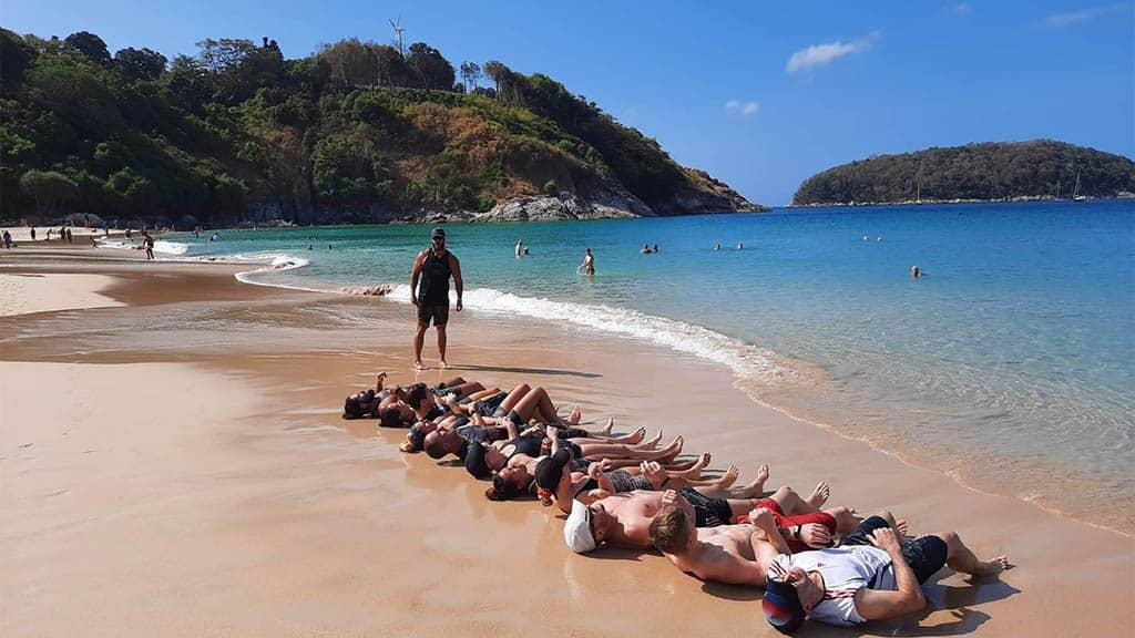 Beach Workout - Titan Fitness Camp Phuket Thailand - Fitness Holiday Phuket - Fitness Holidays for Travelling Athletes