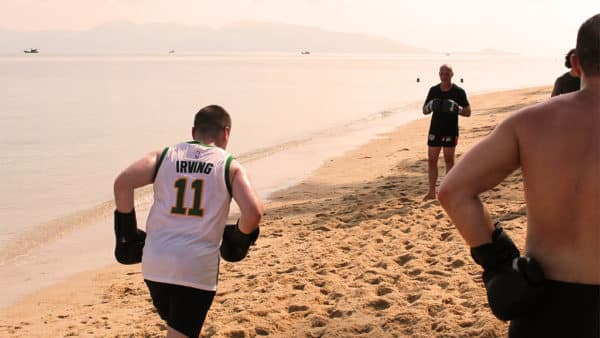 Beach Muay Thai Training - Fitness Holiday Koh Samui - FitKoh - Fitness Holidays Thailand for Travelling Athletes (1)