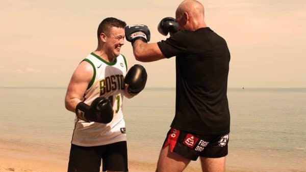 Beach Muay Thai Training - Fitness Holiday Koh Samui - FitKoh - Fitness Holidays Thailand for Travelling Athletes (2)