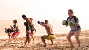 Beach Muay Thai Training - Fitness Holiday Koh Samui - FitKoh - Fitness Holidays Thailand for Travelling Athletes (4)