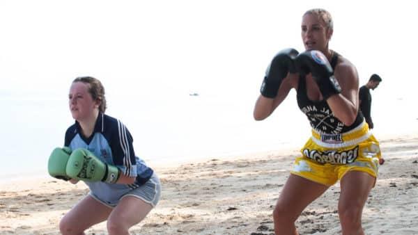 Beach Muay Thai Training - Fitness Holiday Koh Samui - FitKoh - Fitness Holidays Thailand for Travelling Athletes (5)