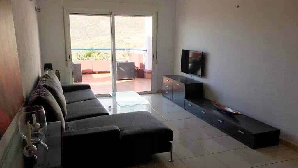 Private Standard Flat - Living Room - Roque del Conde - Fitness Holidays for Travelling Athletes - Fitness Holiday
