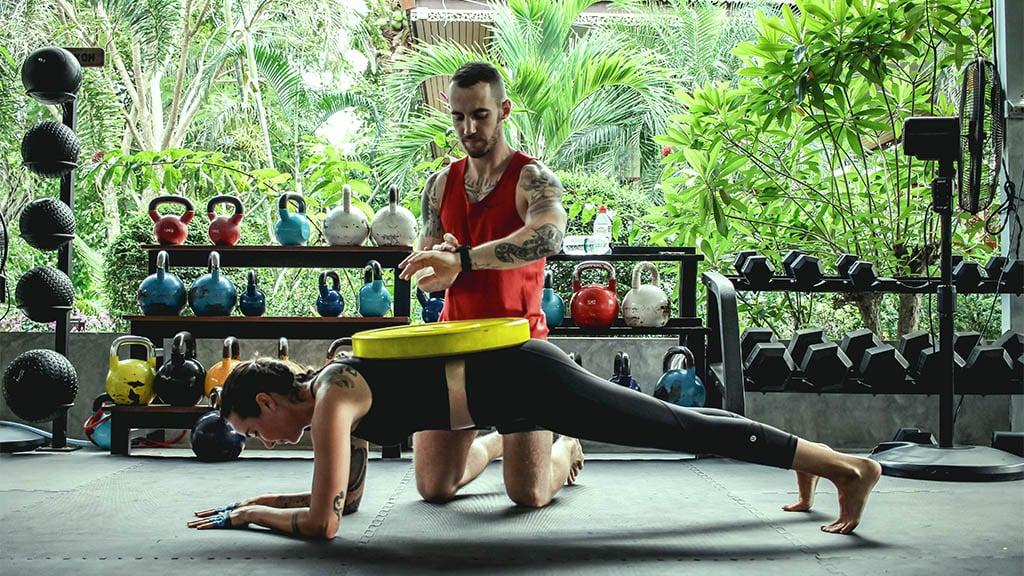 Sam enjoying Personal Training with Coach Tony - Fitness Holiday Koh Samui - FitKoh - Fitness Holidays Thailand for Travelling Athletes (1