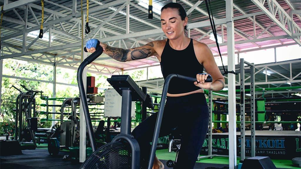 Sam enjoying Personal Training with Coach Tony - Fitness Holiday Koh Samui - FitKoh - Fitness Holidays Thailand for Travelling Athletes (1 (4)