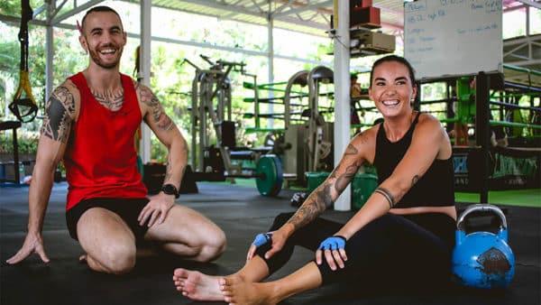 Sam enjoying Personal Training with Coach Tony - Fitness Holiday Koh Samui - FitKoh - Fitness Holidays Thailand for Travelling Athletes (1 (7)