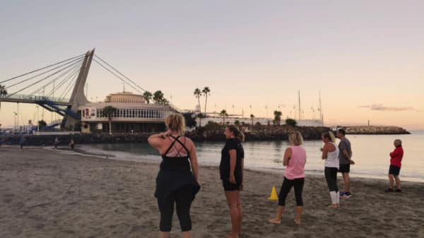 Sunrise Beach Workout - Steve Coster Fitness - Krav Maga - Bootcamp Holiday - Fitness Holiday in Spain - Fitness Holiday in Tenerife - Travelling Athletes