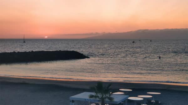 Fanabe Beach / Torviscas Beach - Sunset Costa Adeje - Fitness Holiday in Spain - Fitness Holiday in Tenerife - Travelling Athletes