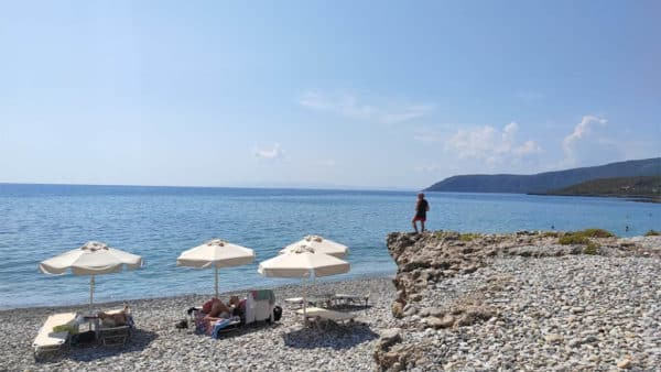 Ritsa Beach Kardamili - Fitness Holiday Greece - Travelling Athletes