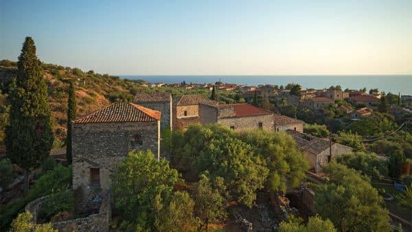 Old fortress in Kardamyli, Greece, Peloponnese