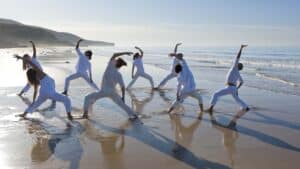 Yoga in Agadir - Paradis Plage Resort Morocco - Agadir - Taghazout - Fitness, Surfing, Yoga, Spa & Wellness - Fitness Holidays Travelling Athletes - Fitness Holiday Morocco