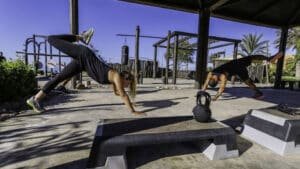 Outdoor Gym - Fitness at Paradis Plage Resort Morocco - Agadir - Taghazout - Fitness, Surfing, Yoga, Spa & Wellness - Fitness Holidays Travelling Athletes - Fitness Holiday Morocco