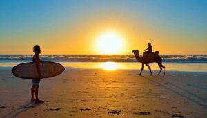 Surfing in Taghazout - Paradis Plage Resort Morocco - Agadir - Taghazout - Fitness, Surfing, Yoga, Spa & Wellness - Fitness Holidays Travelling Athletes - Fitness Holiday Morocco